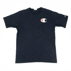 "Champion Shirt Big ""C"" Logo Crew Neck Graphic Tee"